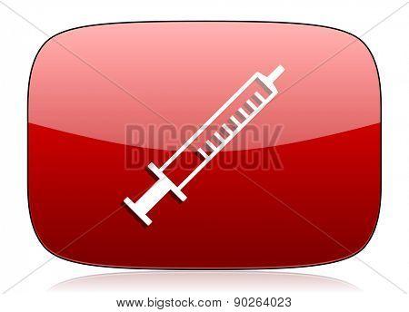 medicine red glossy web icon