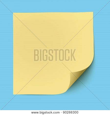 Yellow Sticky Note Isolated