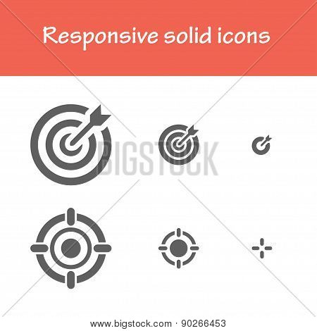 Responsive Solid Goal Icons