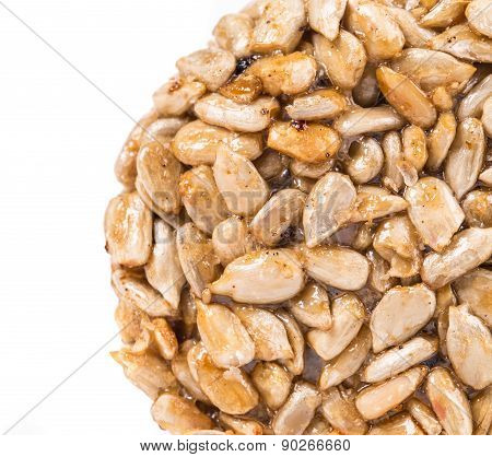 Sunflower seeds in sweet syrup.