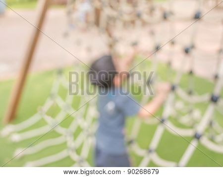 Blurred Image For Background Of Children's Playground