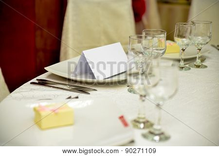 Dining Table Arranged For Event