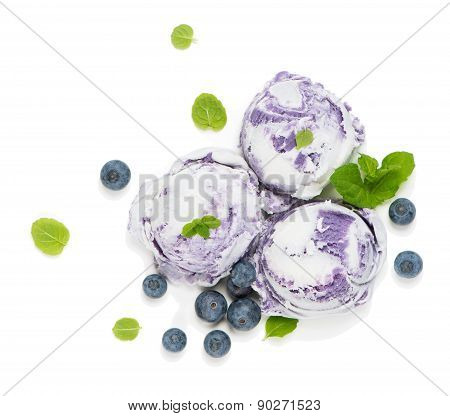 Bilberry Ice Cream, Top View