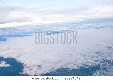 Andes region from the sky