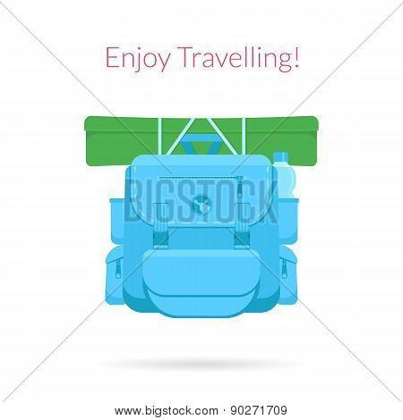 Travel blue bag