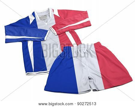 Flag From France On Nylon Soccer Sportswear Clothes