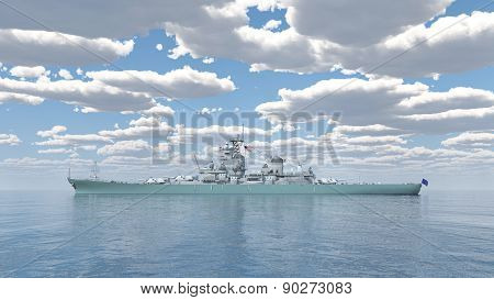 American battleship of World War 2