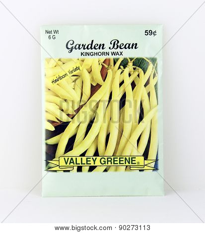 Package Of Valley Greene Wax Bean Seeds