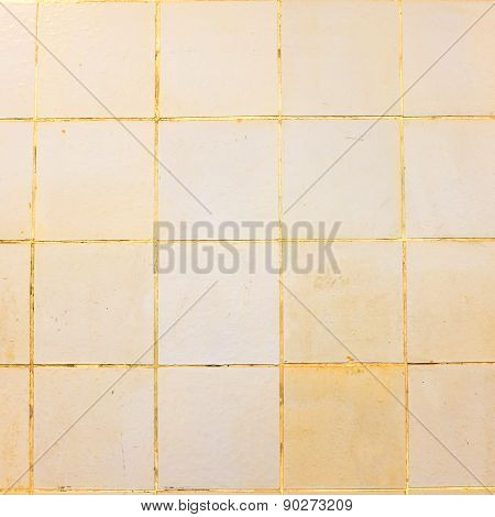 Yellow squared tiles