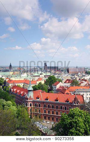 Cracow skyline