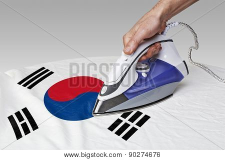 Smooth Out The Wrinkles Of Flag-south Korea