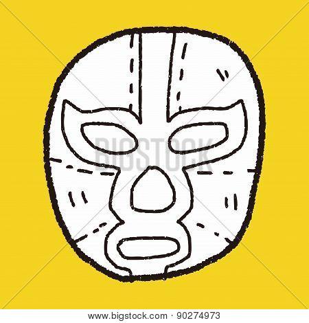 Mexican Wrestler Mask Doodle