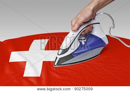 Smooth Out The Wrinkles Of Flag-switzerland