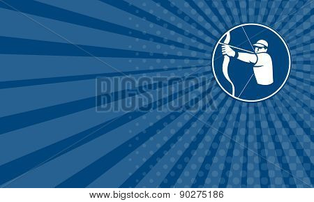 Business Card Archer Bow Arrow Circle Icon