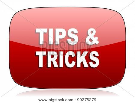 tips tricks red glossy web icon