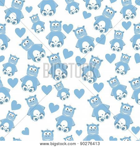 Hippo seamless pattern