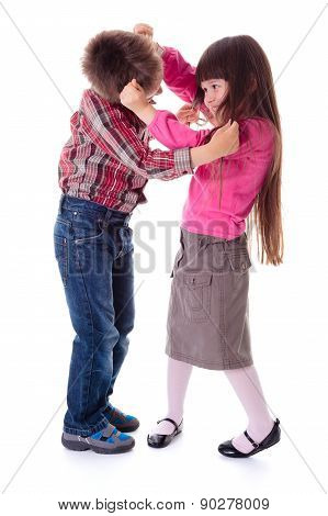 Fighting Boy And Girl