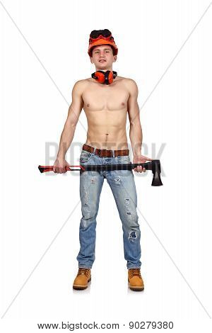 Handyman With Ax