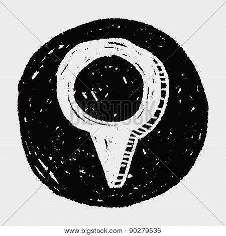 Doodle Location Gps Pin
