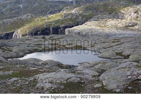 Lake on the mountain.