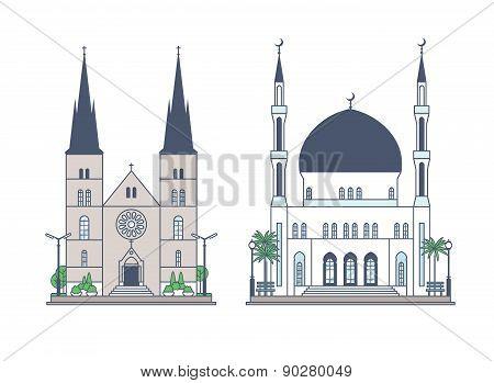 Religious building set.