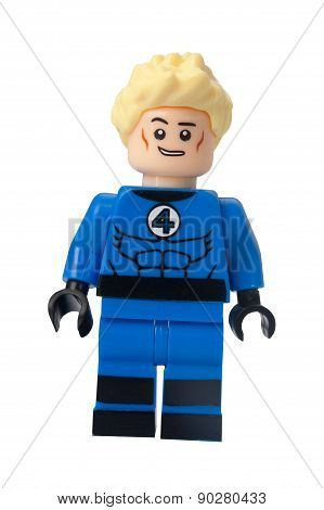 Johnny Storm Custom Lego Minifigure