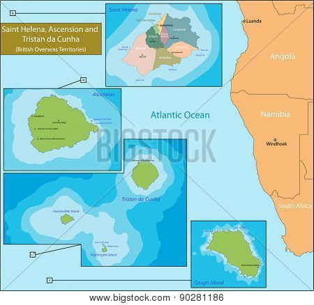 Saint Helena, Ascension and Tristan da Cunha is a British Overseas Territory in the southern Atlantic Ocean