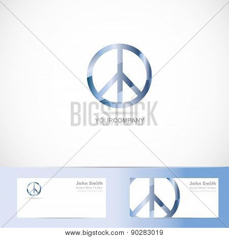 Peace Flower Power Sign Symbol Logo