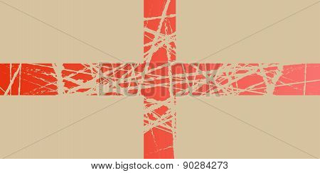 Worn Flag of England