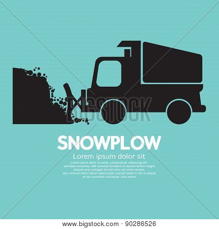 Snowplow Removing The Snow From Road.