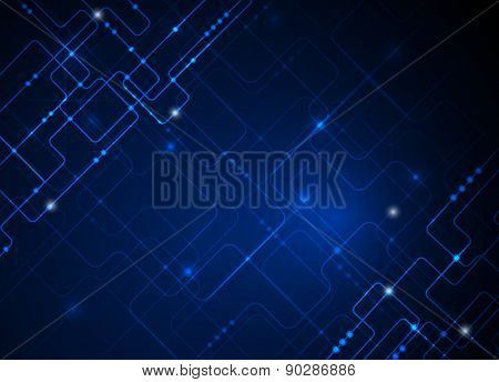 Vector Illustration .Blue Abstract Technology Background