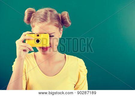 Student taking photo