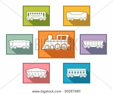 train set for passenger or cargo industry
