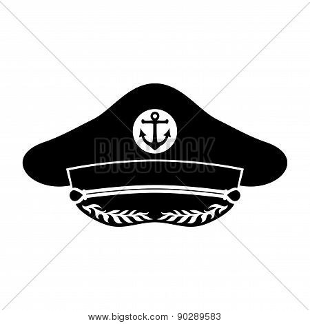 Vector sign. Captain's hat.
