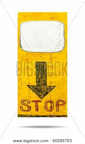 Sign Of Stop Isolated On White Background