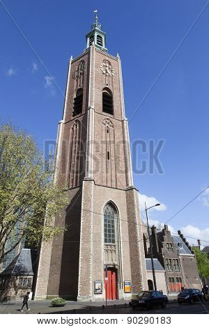 Tower Of Big Church In The Hague