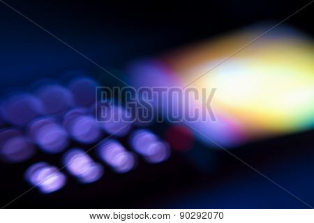 Abstract Mobile Phone Display Lights, Blurred Vision