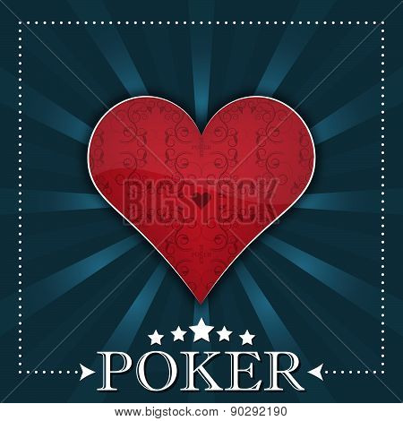 Poker background with playing card symbol