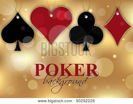 Poker wallpaper with card symbol