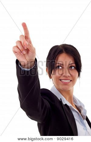 Woman Pressing Button