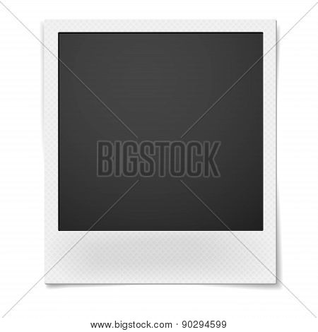 Retro Instant Photo Frame Isolated On White Background