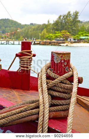 Boat Blue Lagoon  Stone In Thailand Kho Tao