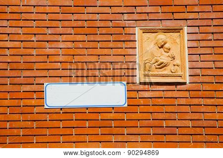 Milan   Italy Old Church Concrete Wall  Brick       Madonna