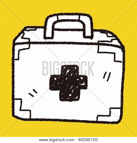 Medical Box Doodle Drawing