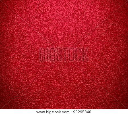 Crimson color leather texture background