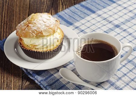 Tasty Cake With Coffee
