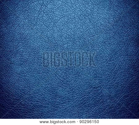 Cyan azure color leather texture background