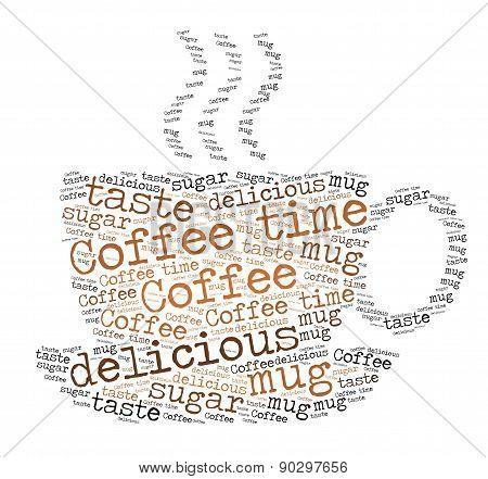 Coffee Mug - word cloud concept
