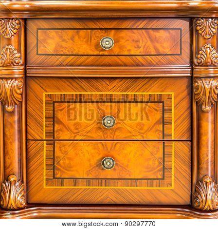 Retro wooden drawer