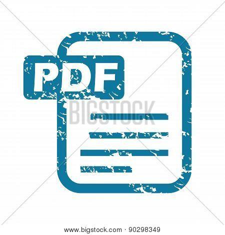 Grunge pdf file icon